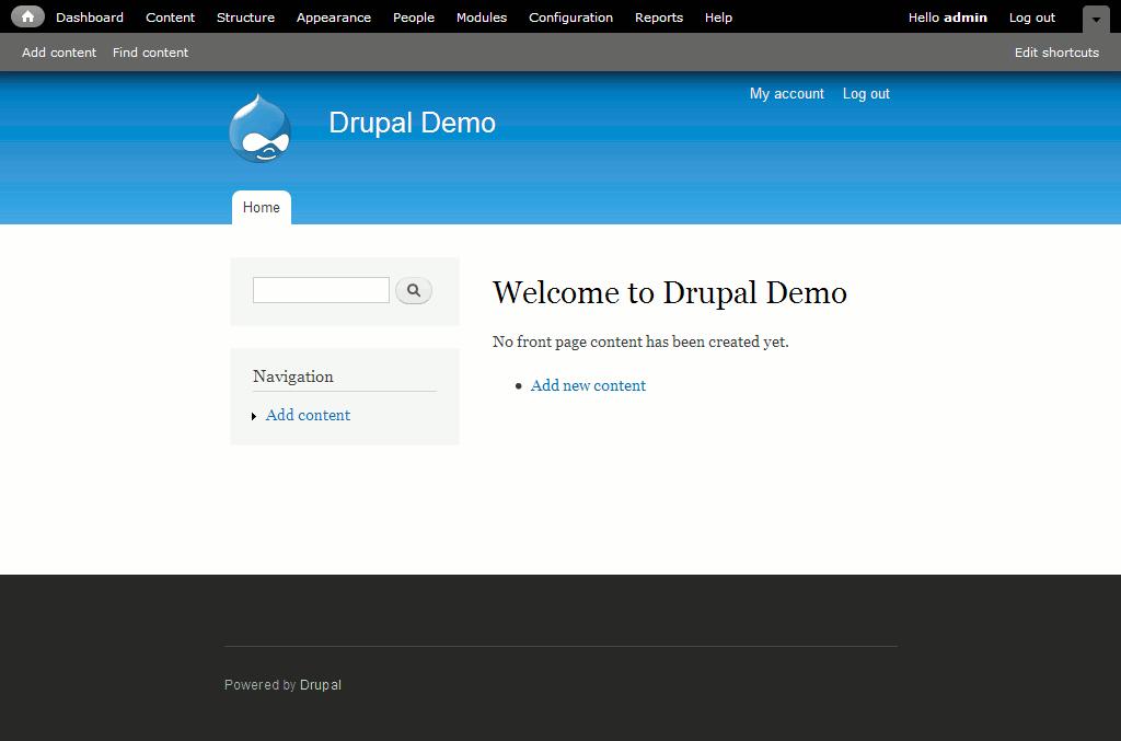 Одна из наиболее популярных бесплатных CMS - Drupal