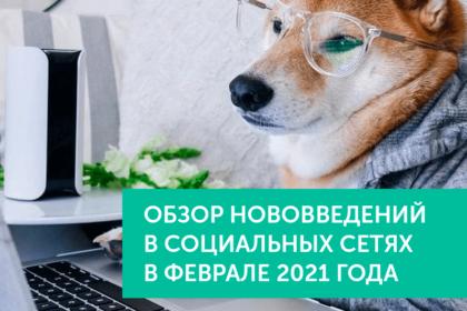 Нововведения в соц.сетях в феврале 2021 года